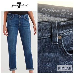 7 FAM Josefina Skinny Boyfriend Jeans. Sz29.